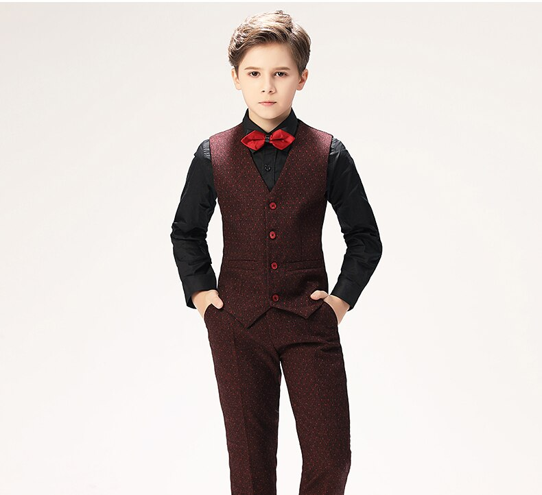 Burgundy Honeycomb Tux