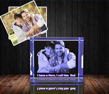 Load image into Gallery viewer, 3D custom personalized engraved etched crystal  birthday, Valentine's Day, wedding, Graduation, mother's day, father's day, retirement, remembrance, housewarming, Christmas, corporate, memorial or anniversary gift with your own photo