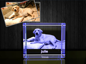 3D custom personalized engraved etched crystal  birthday, Valentine's Day, wedding, Graduation, mother's day, father's day, retirement, remembrance, housewarming, Christmas, corporate, memorial or anniversary gift with your own photo