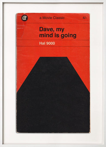 Dave (2001: A Space Odyssey) movie book cover print