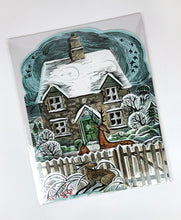 Load image into Gallery viewer, Christmas Cottage Advent Calendar By Angela Harding