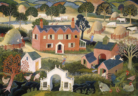 Anna Pugh - Red Brick Farmhouse