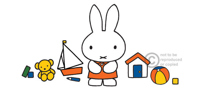 Miffy with her toys