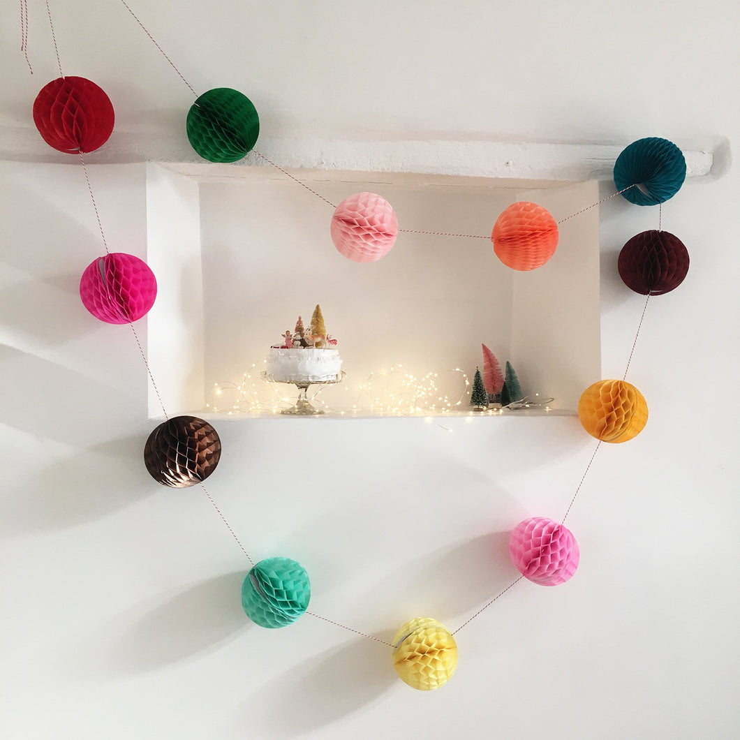 Paper Ball Garland by Petra Boase