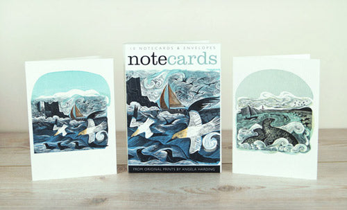 Gannets at Rathlin Island / Seal Song from original prints by Angela Harding