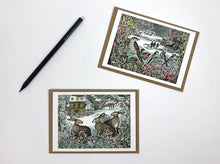 Load image into Gallery viewer, Holly Hedge & We Three Hares Notecards