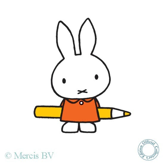 Dick Bruna - Miffy with a Pencil