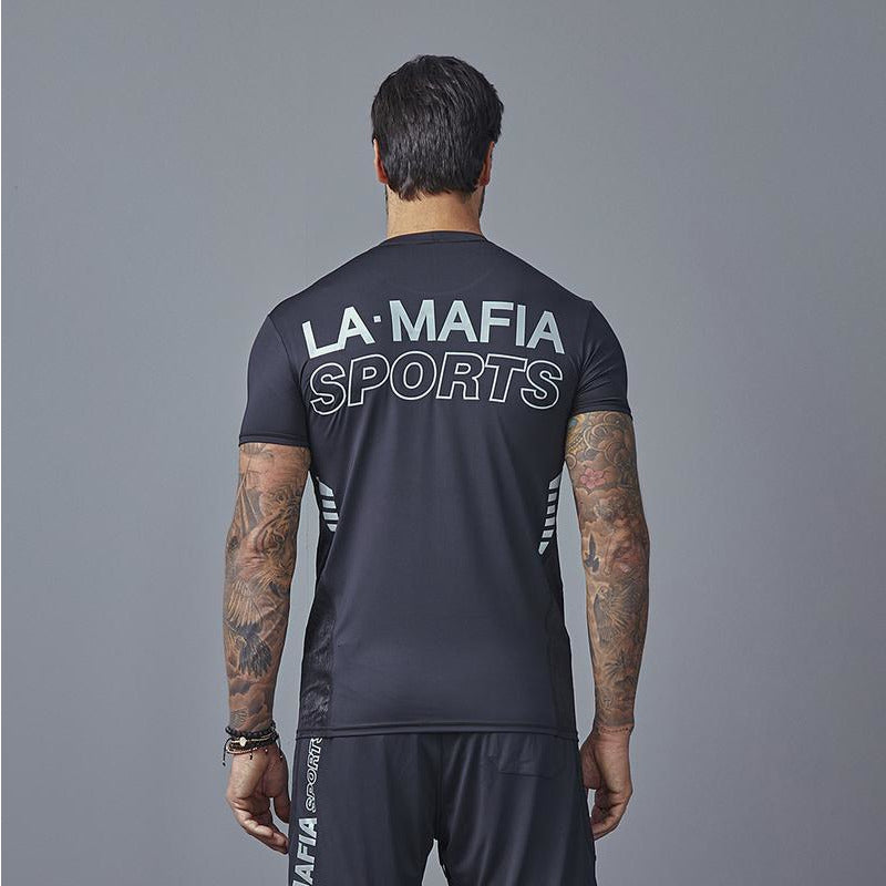 LabelllaMafia Men Dry Fit Reverse Sport Black Tee