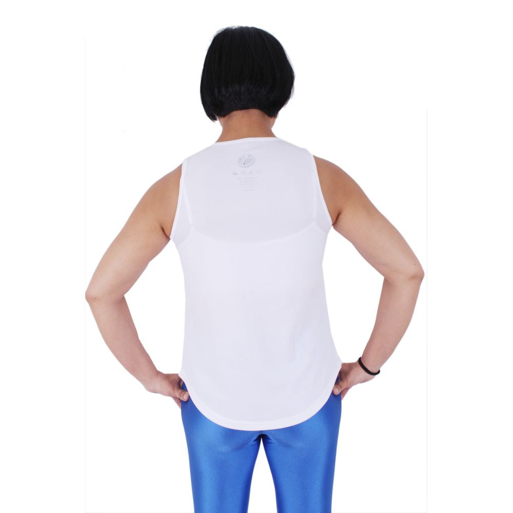 Planet Fitness Womens Dry Fit White Tank
