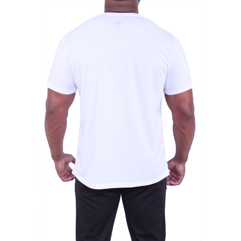 Planet Fitness Mens Athletic Dry Fit White Tee