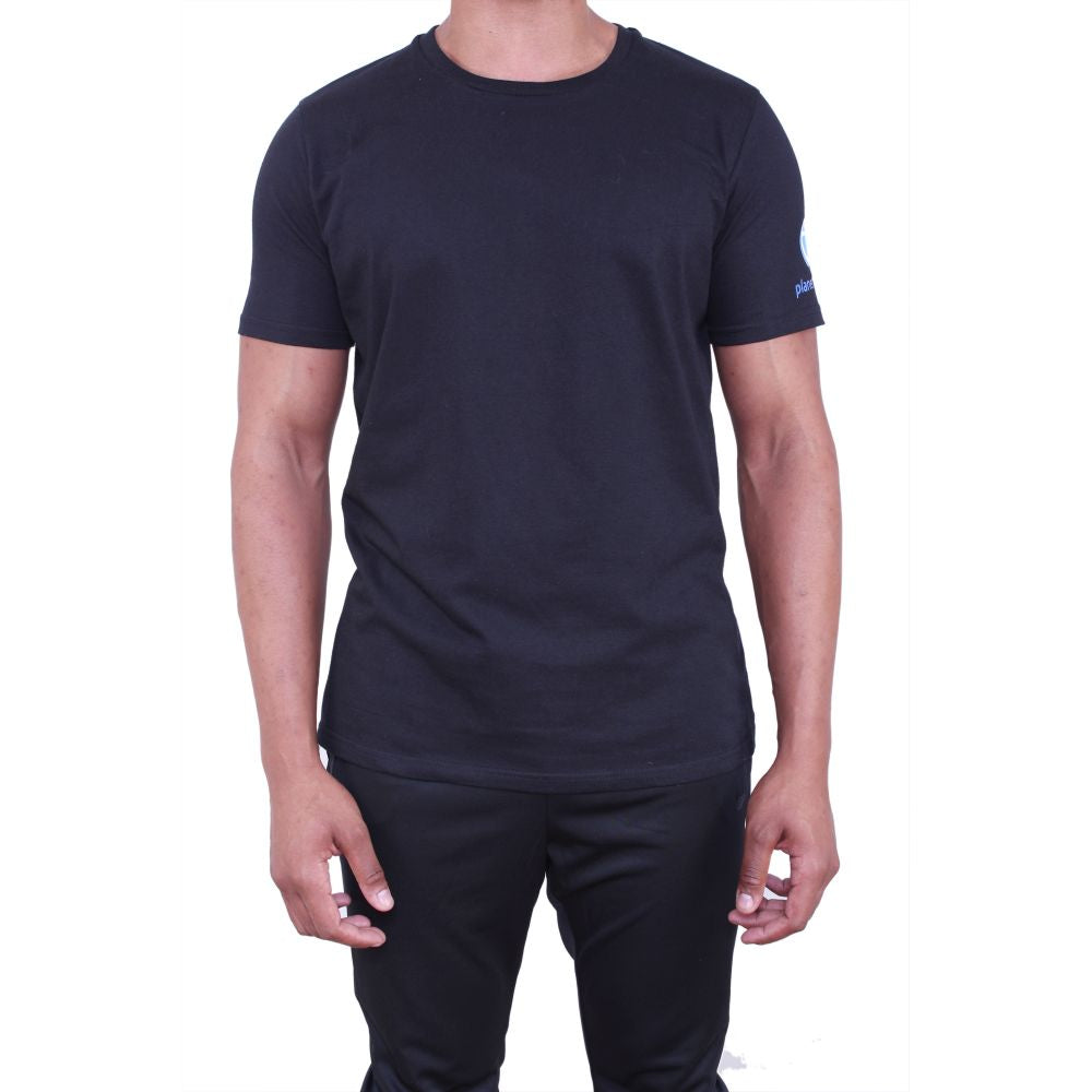 Planet Fitness Mens Athletic Fit Black Cotton Tee