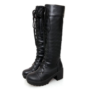 Womens Knee High Tactical Boot - BLVCKOUT Apparel