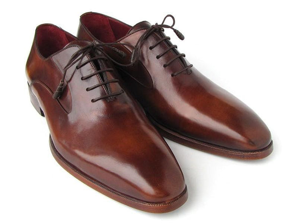 Paul Parkman Plain Toe Brown Calfskin Oxfords (ID#019-BRW) $378