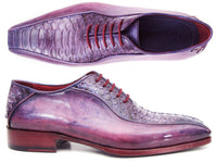 Paul Parkman Purple Genuine Python & Calfskin Bicycle Toe Oxfords (ID#94PR17)