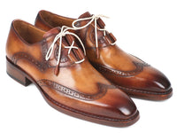 Paul Parkman Goodyear Welted Ghillie Lacing Wingtip Brogues (ID#2955-CML)
