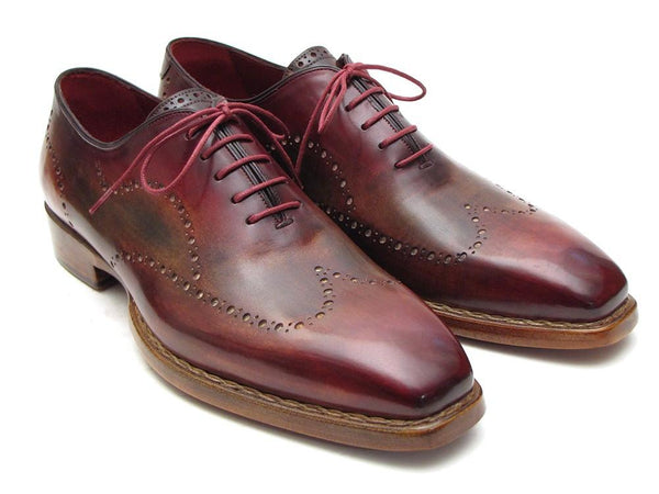 Paul Parkman Wingtip Oxford Goodyear Welted Bordeaux & Camel (ID#087LX)