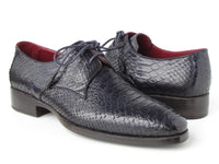Paul Parkman Men's Navy Genuine Python (snakeskin) Derby Shoes (ID#66CK94-NAVY)