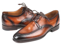 Paul Parkman Ghillie Lacing Brown Burnished Dress Shoes (ID#GU567BRW)