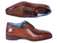 Paul Parkman Brown Genuine Iguana Bicycle Toe Oxfords (ID#94IGBRW)