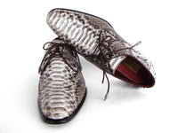 Paul Parkman Men's Natural Genuine Python (snakeskin) Derby Shoes (ID#0787SNK)