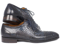 Paul Parkman Navy Genuine Python Captoe Oxfords (ID#PT246NAVY)