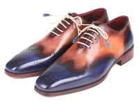 Paul Parkman Blue & Camel Wingtip Oxfords (ID#097BX11)