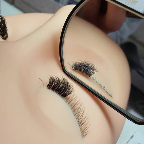 lash training on a mannequin