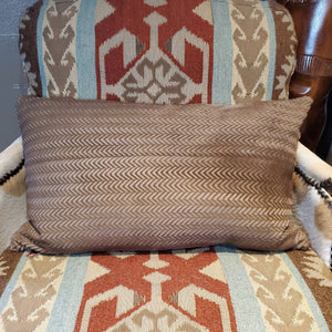 "16"" x 28"" Chevron Cut Hide Lumbar Pillow - PCH23"