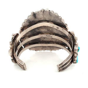 (B) Taos Region Cuff, Turquoise & Sterling 1930s - CTTS