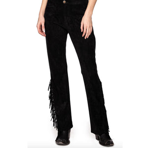 Black Fringed Pant - PTDD1