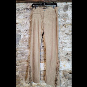 Brown Rice Fringed Pant - PTDD2