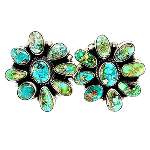 (E) Cluster Turquoise Earrings - E251
