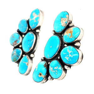 (E) E. Spencer Cluster Turquoise Earrings - EAR63E