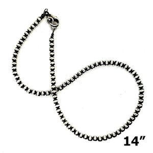 (N) Sterling 4mm Small Chain - NECK242