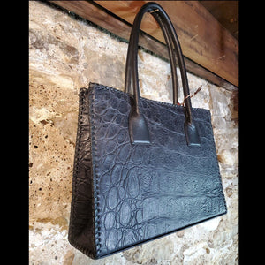 Navy Antelope / Crocodile Purse - BGJA28