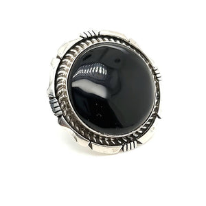 Onyx Ring - Size 7-3/4 - R252