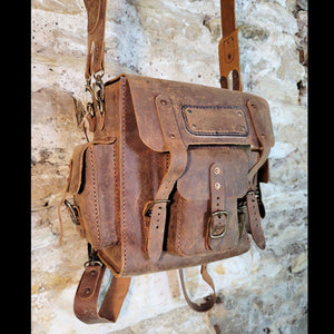 """Pack is Back"" Square Leather Back Pack - BGTH-102"