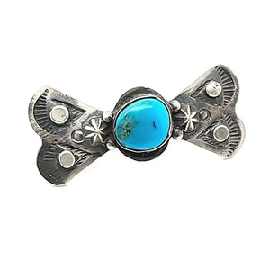 (R) Bow Tie Ring W/Turquoise - CB - Size 7.5 - R234