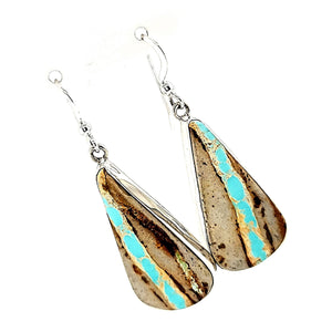 "Royston Boulder Turquoise Earrings - ""E.C."" - E422"