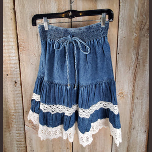 Scully Tiered Denim Skirt - SKSY2