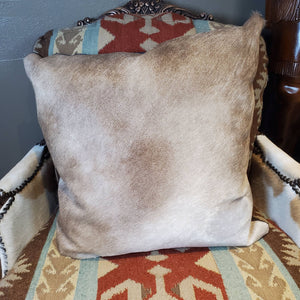 Square Champagne Cowhide Pillow - PCH2-A