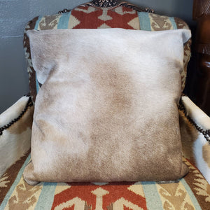 Square Champagne Cowhide Pillow - PCH2-B