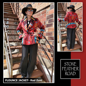 Zuni Red Flounce Wrap - RSFW-ZR