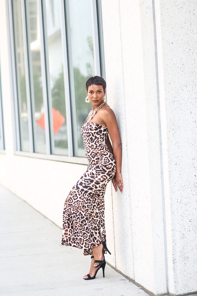 Relentless Animal Print Jumpsuit - A Z A R I