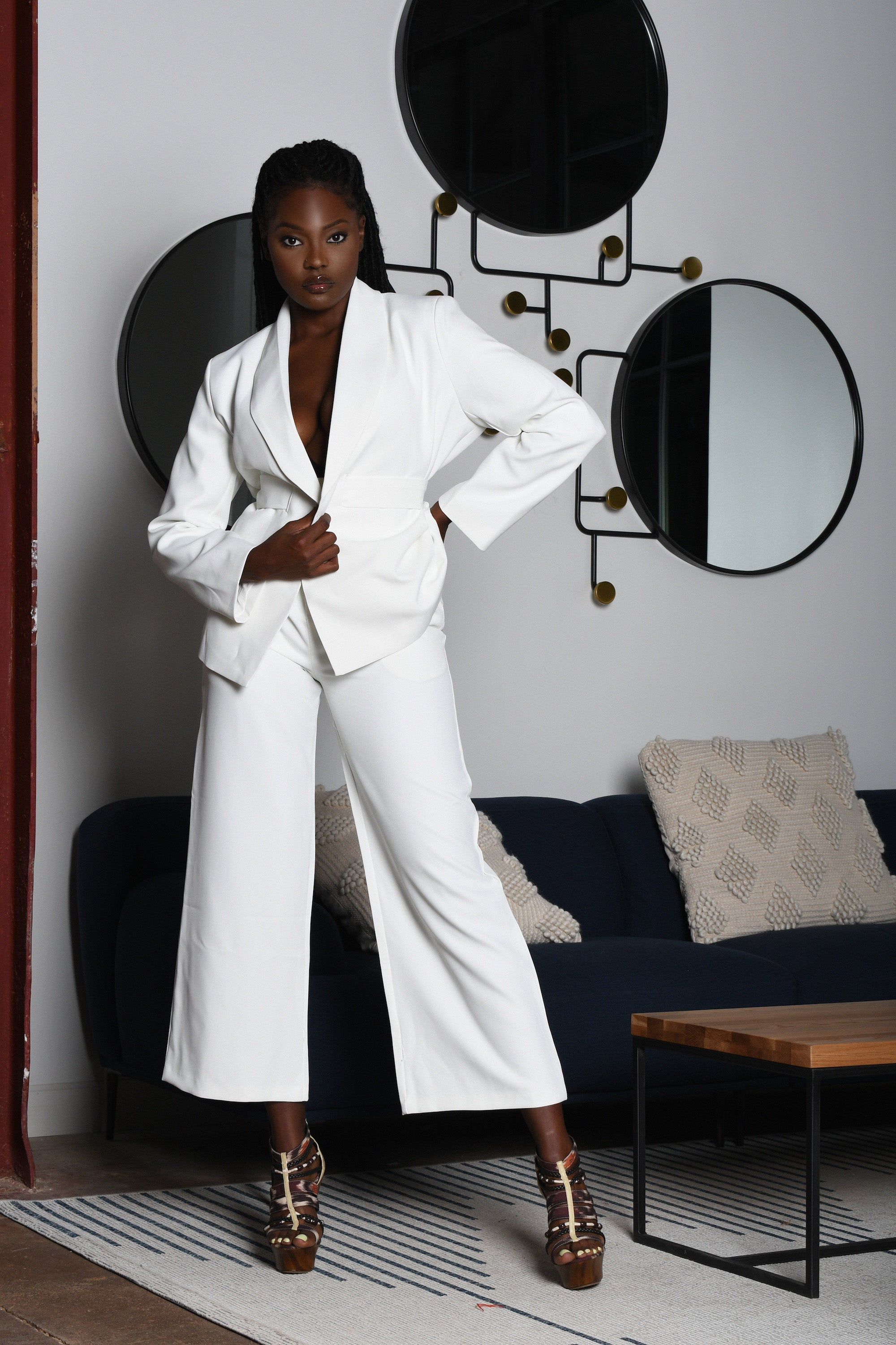 Sleek White Suit