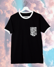 Ahegao Face Pocket Tee - Black