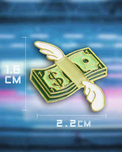 Flying Money Emoji Pin
