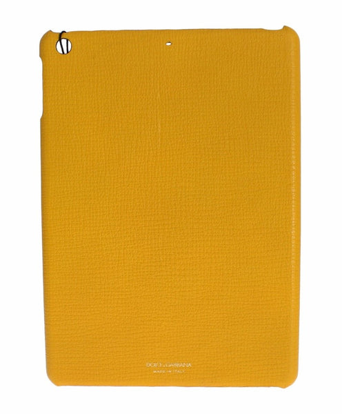 Yellow Leather Tablet Ipad Case Cover