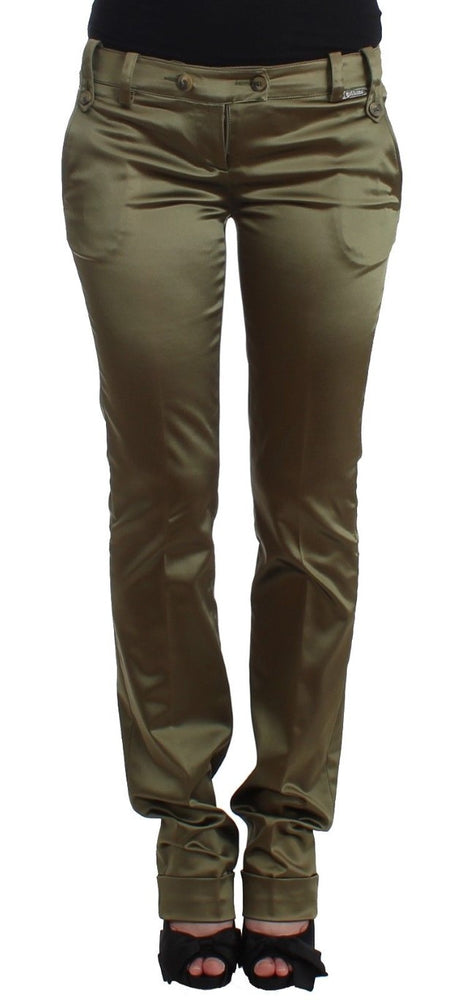 Green Slim Fit Pants