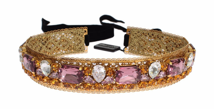 Crown Gold-plated Crystal Sicily GEMME Tiara Headband